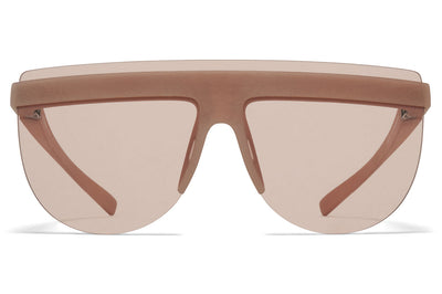 MYKITA + Maison Margiela - MMCIRCLE001 Sunglasses MD28 - Nude with Nude Solid Lenses