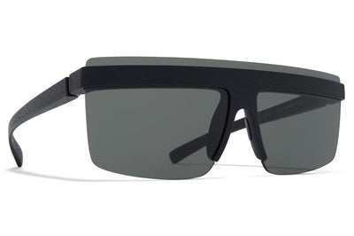 MYKITA + Maison Margiela - MMCIRCLE002 Sunglasses MD1 - Pitch Black with Dark Grey Solid Lenses