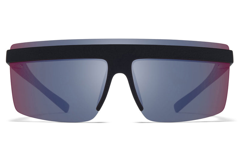 MYKITA + Maison Margiela - MMCIRCLE002 Sunglasses MD1 - Pitch Black with Infrared Flash Lenses