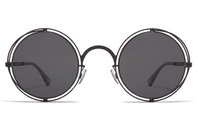MYKITA + Maison Margiela - MMCRAFT001 Sunglasses Black with Dark Grey Solid Lenses