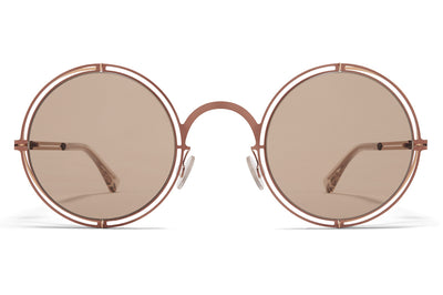 MYKITA + Maison Margiela - MMCRAFT001 Sunglasses Shiny Copper with Light Brown Solid Lenses