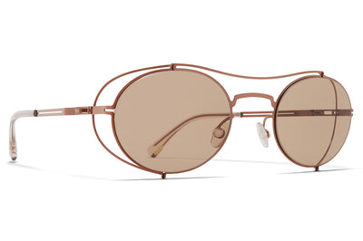 MYKITA + Maison Margiela - MMCRAFT002 Sunglasses Shiny Copper with Light Brown Solid Lenses