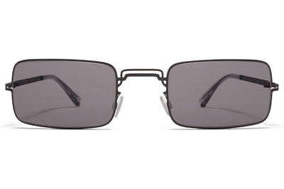 MYKITA + Maison Margiela - MMCRAFT003 Sunglasses Black with Dark Grey Solid Lenses