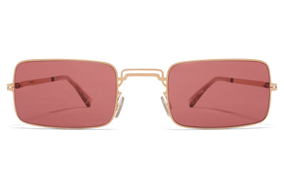 MYKITA + Maison Margiela - MMCRAFT003 Sunglasses Champagne Gold with Purple Solid Lenses