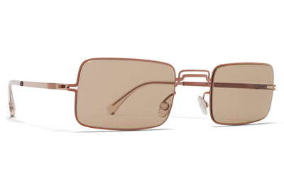 MYKITA + Maison Margiela - MMCRAFT003 Sunglasses Shiny Copper with Light Brown Solid Lenses