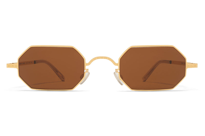 MYKITA + Maison Margiela - MMCRAFT004 Glossy Gold with Brown Lenses