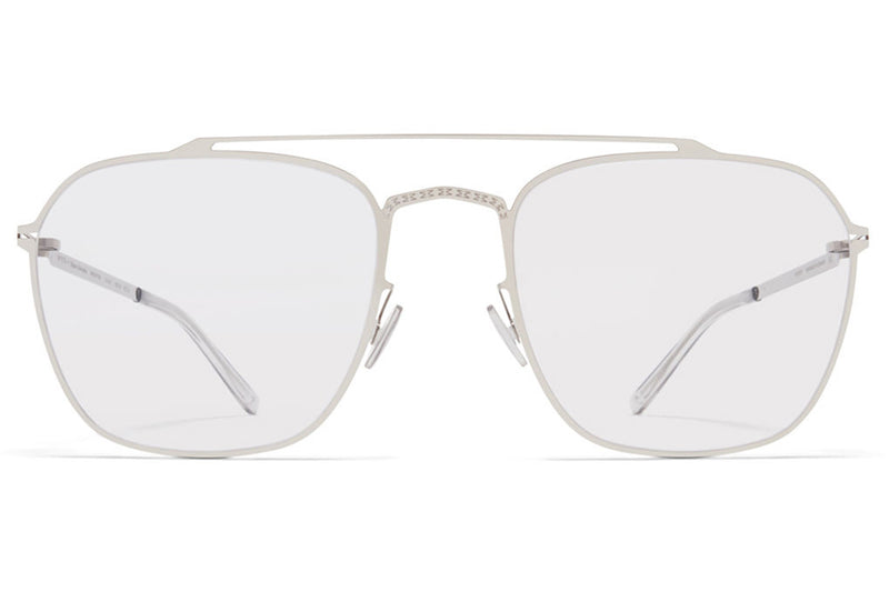 MYKITA + Maison Margiela - MMCRAFT006 Sunglasses Shiny Silver with Gloomy Grey Lenses