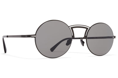 MYKITA + Maison Margiela - MMCRAFT008 Sunglasses Black with Dark Grey Solid Lenses