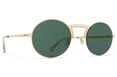 MYKITA + Maison Margiela - MMCRAFT008 Sunglasses Glossy Gold with Dark Grey Solid Lenses