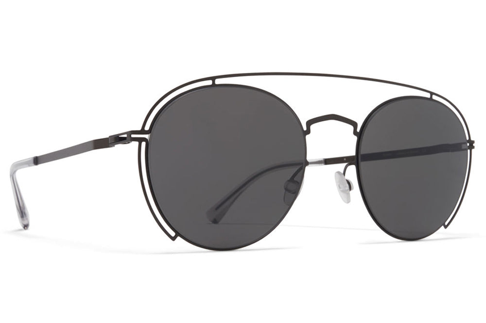 MYKITA + Maison Margiela - MMCRAFT009 Sunglasses Black with Dark Grey Solid Lenses