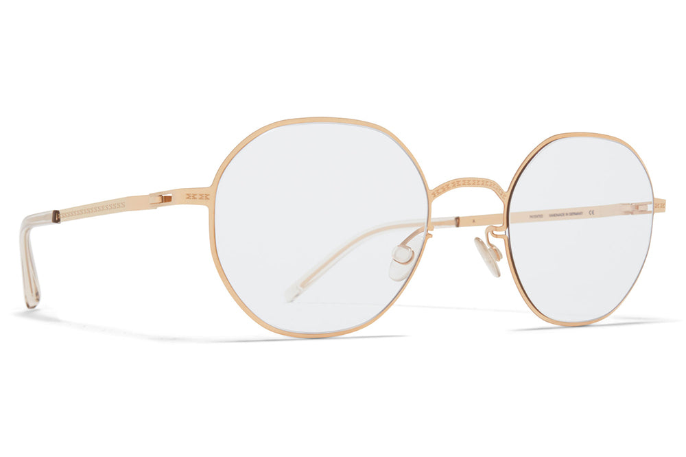 MYKITA + Maison Margiela - MMCRAFT010 Sunglasses Champagne Gold with Gloomy Grey Lenses