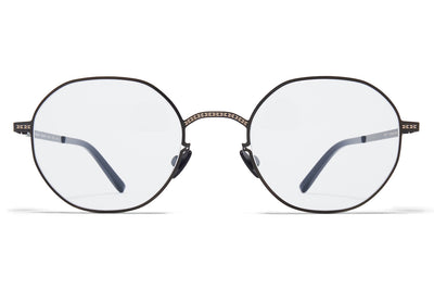 MYKITA + Maison Margiela - MMCRAFT010 Sunglasses Shiny Black with Gloomy Grey Lenses