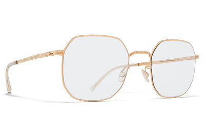 MYKITA + Maison Margiela - MMCRAFT011 Sunglasses Champagne Gold with Gloomy Grey Lenses