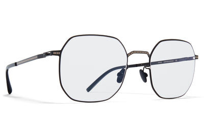MYKITA + Maison Margiela - MMCRAFT011 Sunglasses Shiny Black with Gloomy Grey Lenses