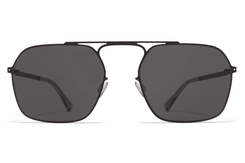 MYKITA + Maison Margiela - MMCRAFT012 Sunglasses Black with Dark Grey Solid Lenses