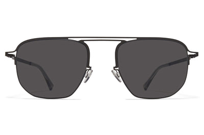 MYKITA + Maison Margiela - MMCRAFT013 Sunglasses Black with Dark Grey Solid Lenses