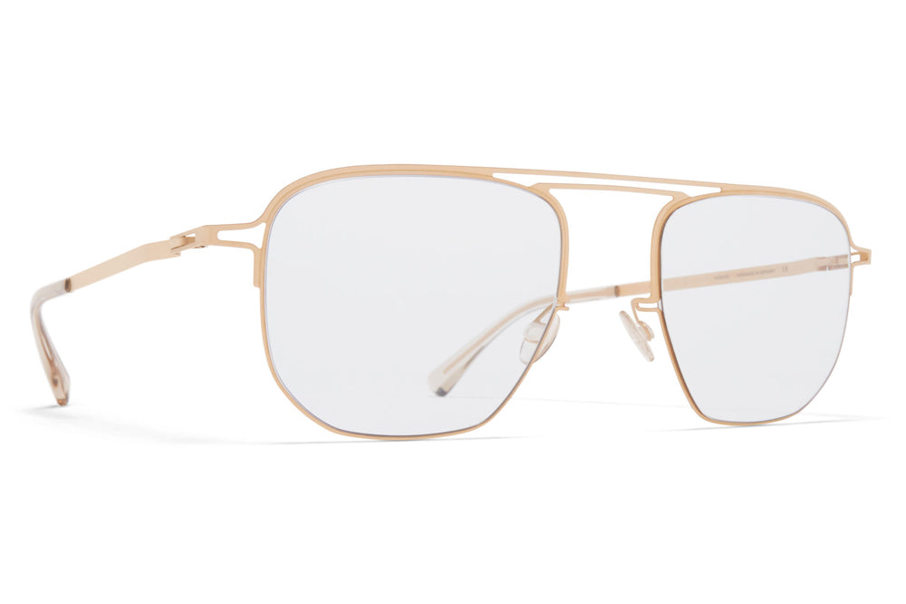 MYKITA + Maison Margiela - MMCRAFT013 Sunglasses Matte Champagne Gold with Gloomy Grey Lenses