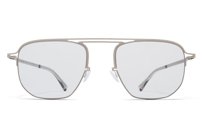 MYKITA + Maison Margiela - MMCRAFT013 Sunglasses Matte Silver with Gloomy Grey Lenses
