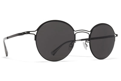 MYKITA + Maison Margiela - MMCRAFT014 Black with Dark Grey Solid Lenses