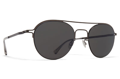MYKITA + Maison Margiela - MMCRAFT015 Sunglasses Black/Sand with Dark Grey Solid Lenses
