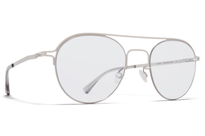 MYKITA + Maison Margiela - MMCRAFT015 Sunglasses Shiny Silver with Gloomy Grey Lenses