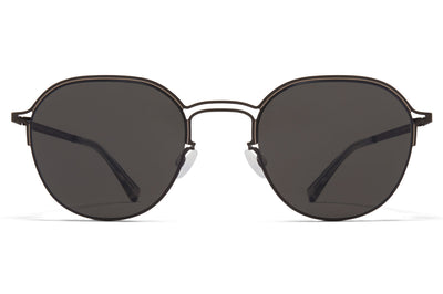 MYKITA + Maison Margiela - MMCRAFT016 Sunglasses Black/Sand with Dark Grey Solid Lenses