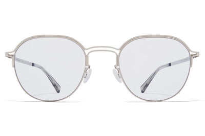 MYKITA + Maison Margiela - MMCRAFT016 Sunglasses Shiny Silver with Gloomy Grey Lenses