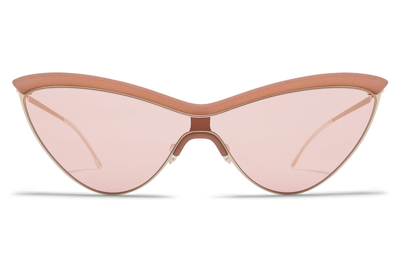 MYKITA + Maison Margiela - MMECHO002 Sunglasses MH21 Nude/Off White with Nude Solid Shield
