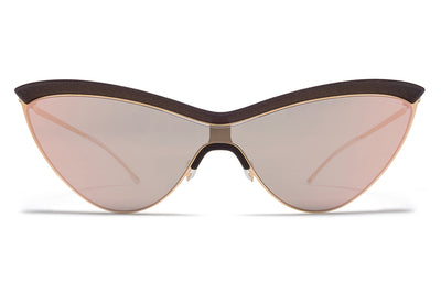 MYKITA + Maison Margiela - MMECHO002 MH8 Ebony Brown/Champagne Gold with Champagne Gold Shield