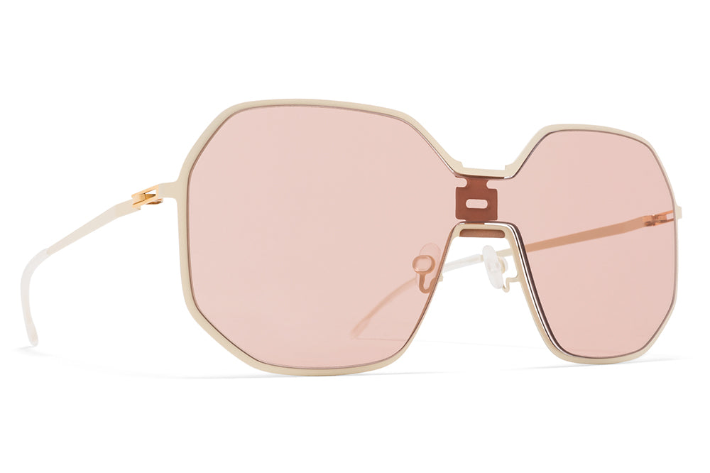 MYKITA + Maison Margiela - MMECHO003 Sunglasses MH21 Nude/Off White with Nude Solid Shield