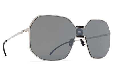 MYKITA + Maison Margiela - MMECHO003 MH22 Pitch Black/Shiny Silver with Silver Flash Shield
