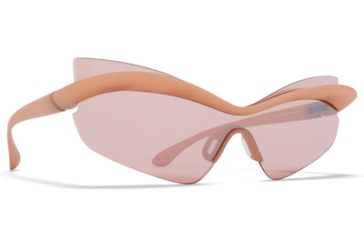 MYKITA + Maison Margiela - MMECHO004 Sunglasses MD28 Nude - Lilac/Pink with MM Shield