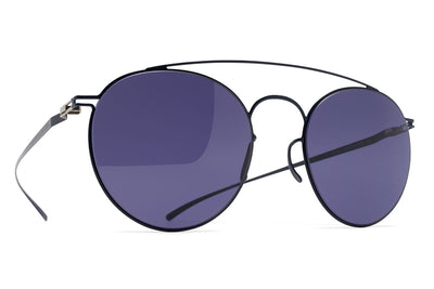 MYKITA + Maison Margiela - MMESSE005 Sunglasses E10 Dark Blue with Indigo Solid Lenses