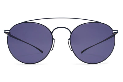 E10 Dark Blue with Indigo Solid LensesMYKITA + Maison Margiela - MMESSE005 Sunglasses
