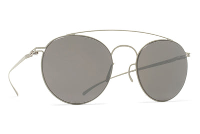 MYKITA + Maison Margiela - MMESSE005 Sunglasses E11 Light Grey with Mirror Black Lenses
