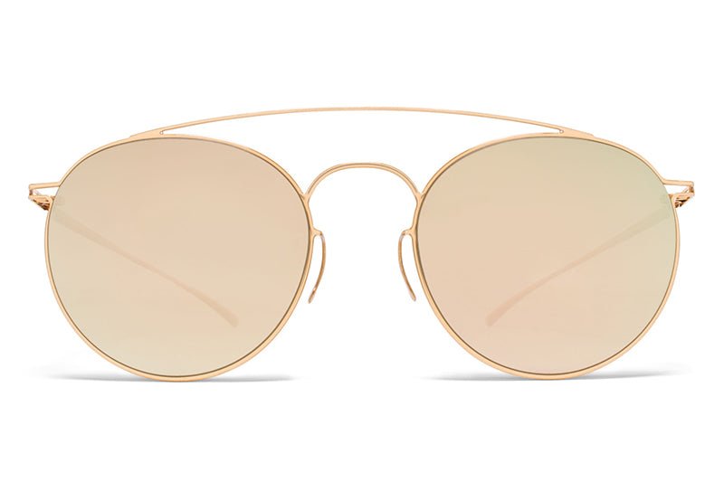 MYKITA + Maison Margiela - MMESSE005 Sunglasses E12 Champagne Gold with Champagne Gold Lenses