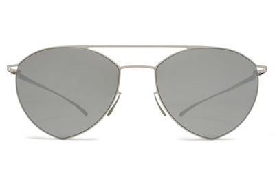 MYKITA + Maison Margiela - MMESSE010 Sunglasses E11 Light Grey with Mirror Black Lenses