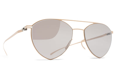 MYKITA + Maison Margiela - MMESSE010 Sunglasses E9 Nude with Warm Grey Flash Lenses