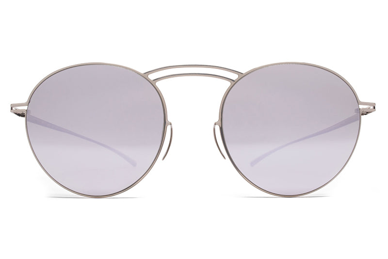 MYKITA + Maison Margiela - MMESSE011 Sunglasses E1 Silver with Silver Flash Lenses