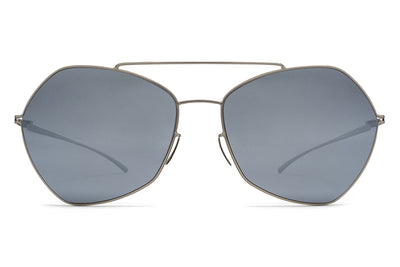 MYKITA + Maison Margiela - MMESSE012 Sunglasses E1 Silver with Silver Flash Lenses