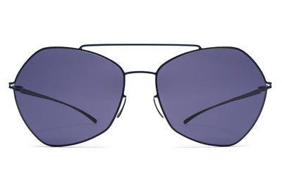 MYKITA + Maison Margiela - MMESSE012 Sunglasses E10 Dark Blue with Indigo Solid Lenses