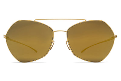 MYKITA + Maison Margiela - MMESSE012 Sunglasses E2 Gold with Gold Flash Lenses