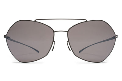 MYKITA + Maison Margiela - MMESSE012 Sunglasses E6 Dark Grey with Dark Purple Flash Lenses
