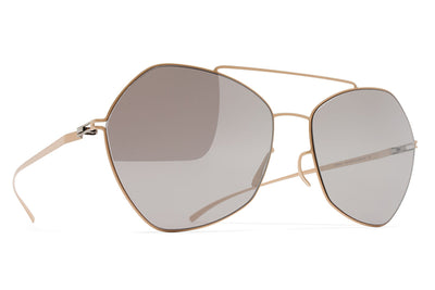MYKITA + Maison Margiela - MMESSE012 Sunglasses E9 Nude with Warm Grey Flash Lenses