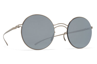 MYKITA + Maison Margiela - MMESSE013 Sunglasses E1 Silver with Silver Flash Lenses
