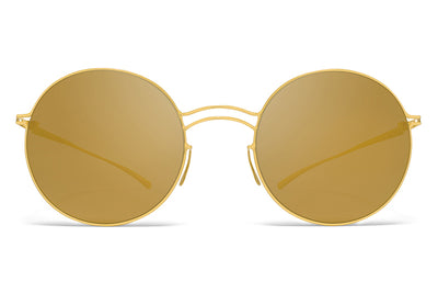 MYKITA + Maison Margiela - MMESSE013 Sunglasses E2 Gold with Gold Flash Lenses