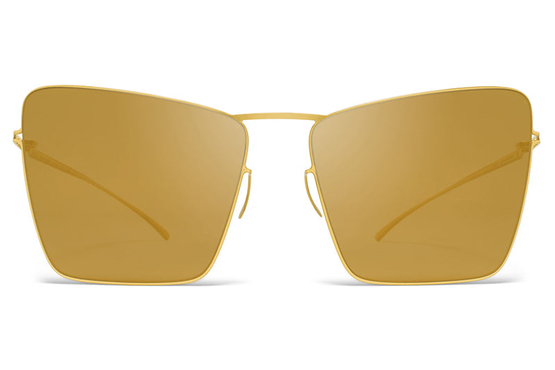 MYKITA + Maison Margiela - MMESSE014 Sunglasses E2 Gold with Gold Flash Lenses