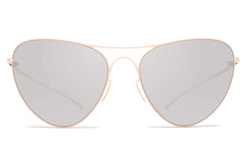 MYKITA + Maison Margiela - MMESSE015 Sunglasses E9 Nude with Warm Grey Flash Lenses