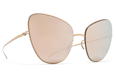 MYKITA + Maison Margiela - MMESSE018 Sunglasses E12 Champagne Gold with Champagne Gold Lenses