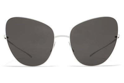MYKITA + Maison Margiela - MMESSE018 E13 White with Dark Grey Solid Lenses
